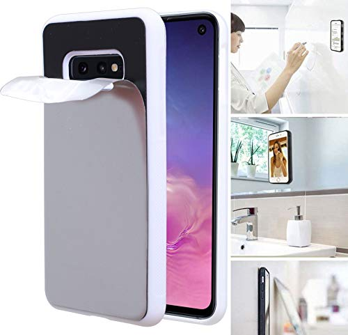 Anti Gravity Phone Case for Galaxy S10E with Dust Proof Film, Magic Nano Hands Free Stick to Wall Anti-Gravity Case Black AntiGravity Case for Galaxy S10 Lite (White)