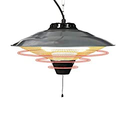 Vilobos Electric Patio Heater Ceiling Mounted or Hanging Infrared Heater, Waterproof IP24, for Outdoor or Indoor Use,900W-1500W,5100 BTU