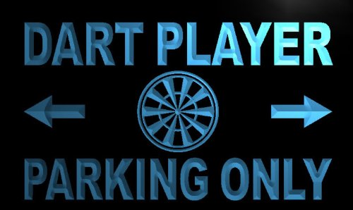 Preisvergleich Produktbild ADVPRO m266-b Dart Player Parking Only Neon Light Sign Barlicht Neonlicht Lichtwerbung