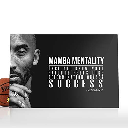Kobe Bryant Canvas|Kobe Bryant Decor|Kobe Bryant Frame|Kobe Bryant Framed|Kobe Bryant Lakers|Kobe Bryant Mamba Focus|Kobe Bryant Mamba Mentality|Kobe Bryant NBA (ArtWork-14, 30x20)