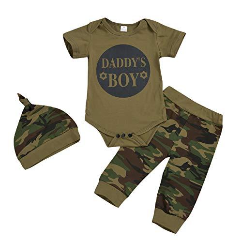 2 piezas de ropa para bebés y niños pequeños y niñas, camiseta de camuflaje, pantalones y suelos. C#1 6-12 Meses