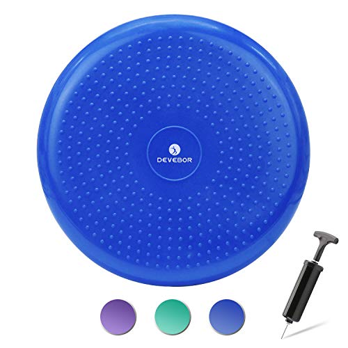 DEVEBOR Balance Board Kids Wiggle Seat Balance Wobble Cushion Disc for Workout Therapy Fitness and Training Exercise Blue