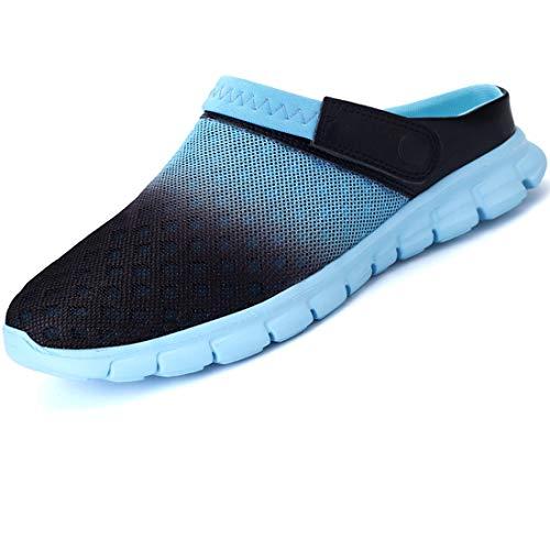 LIANNAO Hombres Zuecos Zapatillas de Playa Respirable Acoplamiento Antideslizante Sandalias Zapatos Verano Malla Ligeros Chancletas Jardin Clogs Zapatos Sandalias Chanclas Unisex Slippers EU 36-45