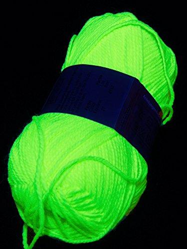 50g Schwarzlicht Wolle Neon Gelb