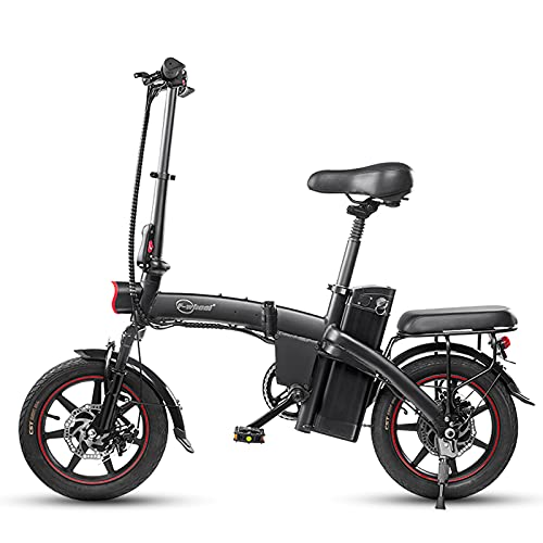 Lixa-da Bicicleta Eléctrica Plegable de 350W y 14 Pulgadas, Ciclomotor Eléctrico Asistido,...