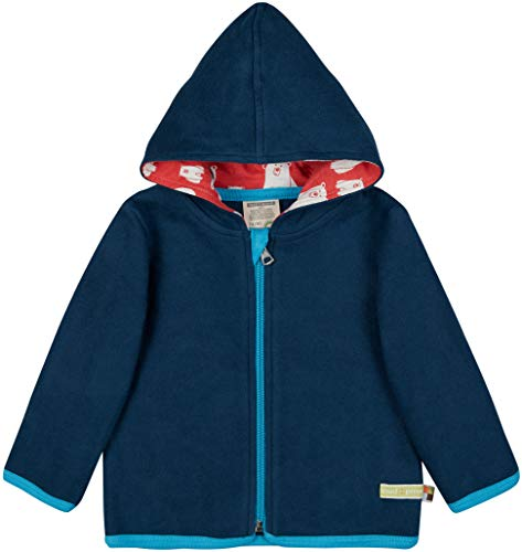 loud + proud Kinder-Unisex Fleece-Jacke, Ultramarin, 98/104