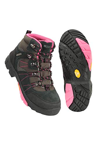 Mountain Warehouse Edinburgh Vibram Youth Boots - Kids Summer Shoes Pink Kids Shoe Size 4 US