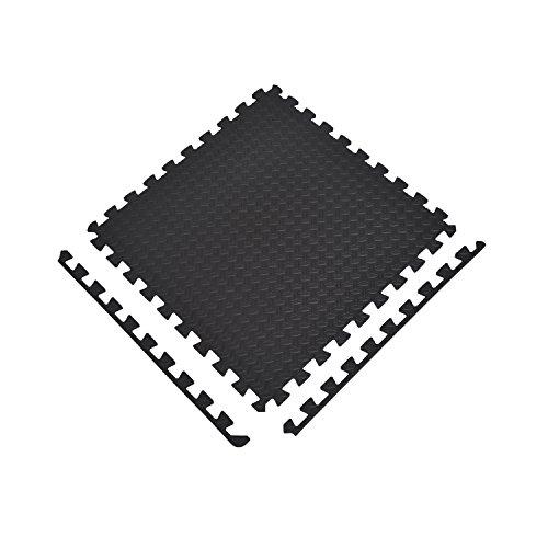 HOMCOM Alfombra Puzzle 6 Piezas Esterilla Protectora de Suelo con Bordes de Espuma EVA de 2,16 m² para Fitness Gimnasio Juego 60x60x1,2cm