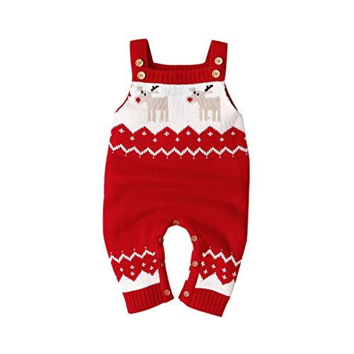MEIbax Otoño e Invierno Explosión Navidad Ropa Niño niñas Mameluco Manga Larga Felpa Mantener Caliente Mono Chica Niños Tops Pantalones Pelele Bebé