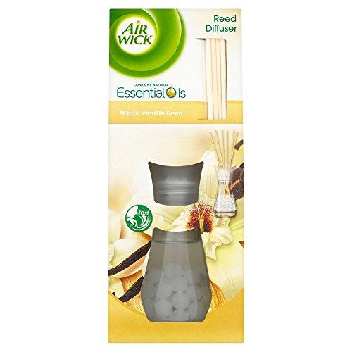AirWick Air Freshener Essential Oils Reed Diffuser, White Vanilla Bean, 25...