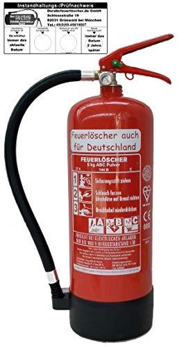 Feuerlöscher 6kg ABC Pulverlöscher mit...