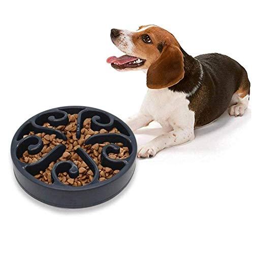 Hond Kommen Te Vertragen Eten Hond Kom Slow Eten Bloat Stop Hond Kom Puppy Voedsel Nat Kom Kat Puzzel Feeders Fun Foerageren Hond Kom black