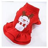 ZAJ Ropa for Perros Navidad de los Pares del Escudo for Perros pequeños Gatos Yorkshire Terrier Vestido de Perrito del Gato del Perro de Vestuario (Color : Red Dress, tamaño : S)
