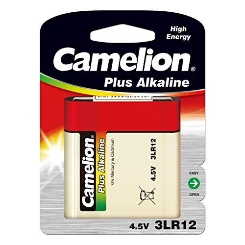Pila Camelion 3LR12 Pila de Petaca 4,5V Blister 1Ud., 4,5V, Alkaline