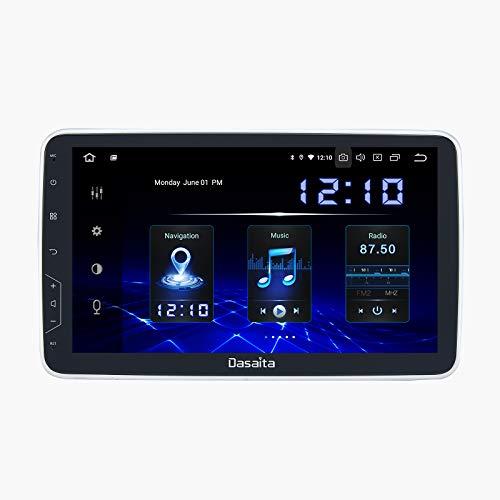 Dasaita 10.2' Android 10.0 2 DIN Rotativo Radio Bluetooth para Coche Integrado Carplay Autoradio con GPS Soporte WiFi Dab+ TPMS FM/Am Mandos de Volante USB 4G/64G