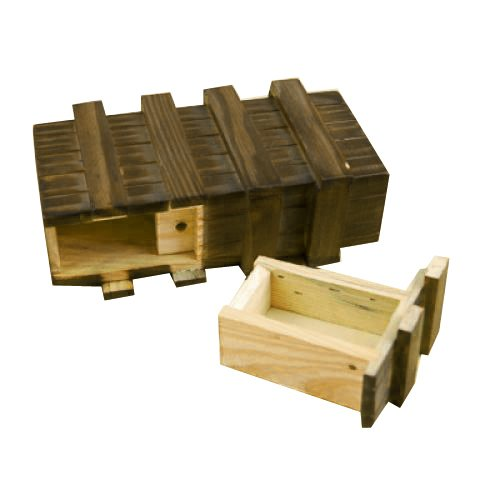 Generic - Caja mágica de madera con cajón secreto seguro adicional