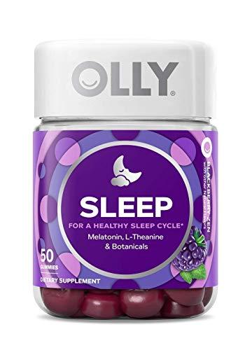 Olly Restful Sleep Healthy Sleep Cycle, Blackberry Zen, 50 Gummies (Pack of 2)