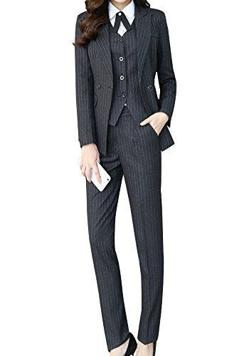 LISUEYNE Damen 24-teilig Anzug Office Lady formelles Blazer Business Suit Set Damen Suits Arbeit Rock/Hose,Weste Sakko