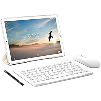YESTEL Tablet 10 Pollici con wifi offerte Android 9.0 Tablet PC con 3GB RAM & 32GB ROM e LTE Dual SIM Call, 5.0 MP + 8.0 MP HD Camera e 8000mAH (Sblocco Facciale,Supporta Netflix) -Argento