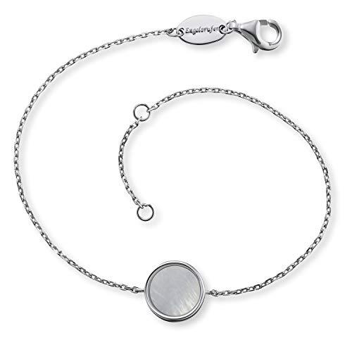Engelsrufer - Damen Armband Muschelkern aus 925 Sterlingsilber, Frauen Armbänder mit echten Perlen, elegantes Edelschmuck Silberarmband