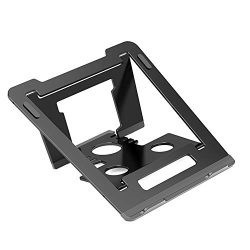 JFGUOYA Adjustable Aluminum Laptop Stand, Ergonomic Riser Notebook Computer Holder Stand Compatible with Apple MacBook Air Pro, MacBook Air, Dell, HP, Lenovo More 10-17' Laptops,Black