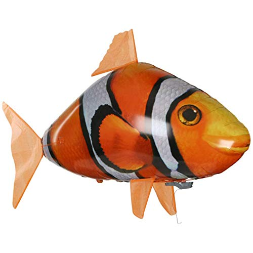 LEERIAN Remote Control Flying Fish Toy Aerial Swimming Inflatable Toy DIY Children