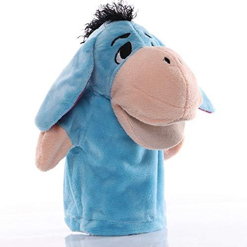 HHtoy 25cm Azul Burro Animal marioneta Mano Juguete