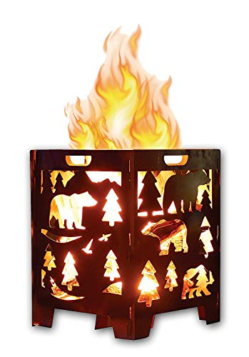 SuperHandy Incinerator Cage Fire Box California Bear Christmas/X-Mas Tree (Develops Patina Finish) Heavy Duty Steel 21