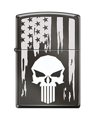Custom Skull Flag Reg Blk Ice