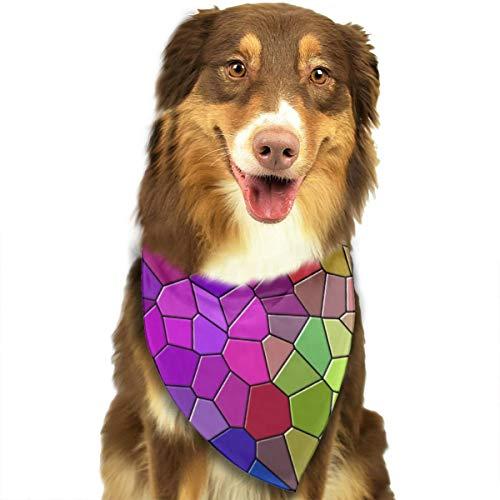 Mozaïek Veelkleurige Textuur Patronen Behang Hond Kat Bandana Driehoek Bibs Sjaal Huisdier Geschikt voor Kleine Tot Grote Hond Katten