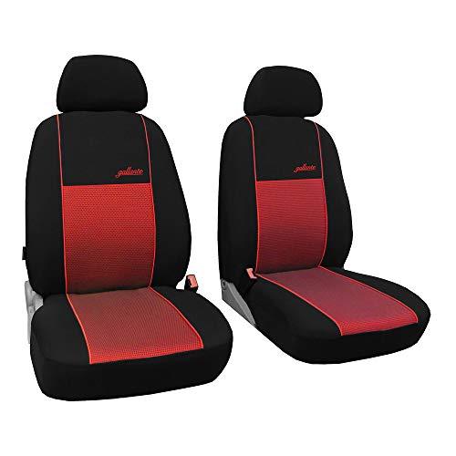 Saferide   Universal Vordersitze 1+1 Rot Sitzbezüge Sitzbezug für Auto Sitzschoner PKW LKW Set Schonbezüge Autositz Autositzbezüge Sitzauflagen Sitzschutz Transporter Gallante VIP
