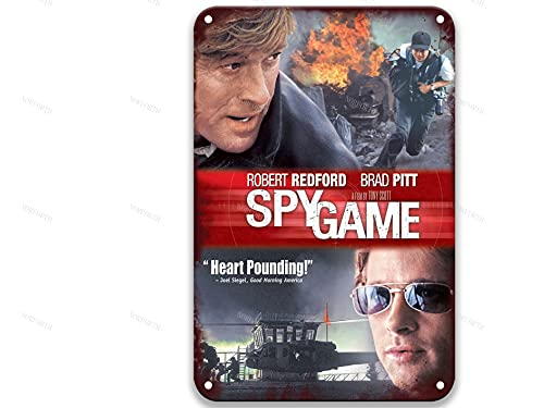 sfasf Spy Game (2001),Vintage Movies Metal Tin Signs Poster Art Group for Bathroom Coffee & Bar Custom Farmhouse Home Kitchen 8x12 Inches
