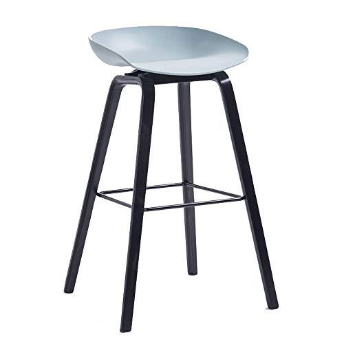 Barstools-BYTGK houten barkruk PP zitting hoge kruk met metalen voetsteun stoel ontbijt huisstoelen Kitchen Bar J1129