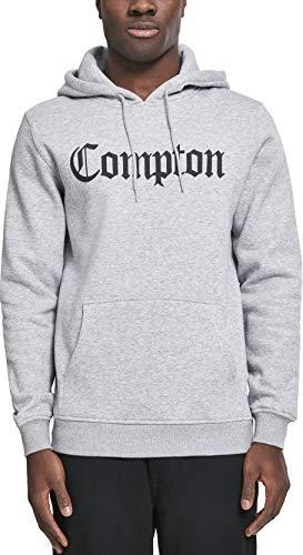 Mister Tee Herren Kapuzenpullover Compton Hoodie, Grau (h.grey/blk), Gr. XL