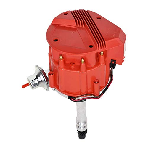 A-Team Performance HEI Distributor 65K Coil 7500 RPM Compatible with Chevrolet Chevy GM GMC Small Block Big Block SBC BBC 262 265 267 283 302 305 307 327 350 383 400 SBC & 396 427 454 Super Red Cap