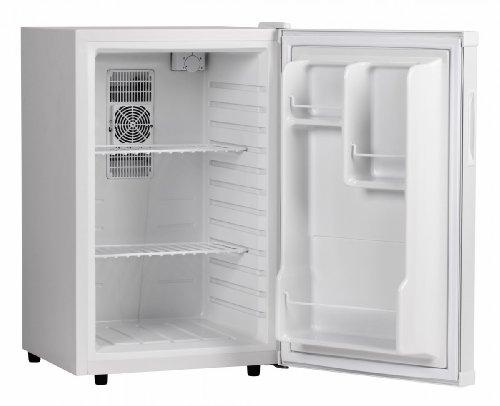 AMSTYLE Mini Kühlschrank 65 Liter Kleiner Kühlschrank Weiß 46x74x52 cm 5°-15°C | Getränkekühlschrank ohne Gefrierfach | Minibar Minikühlschrank freistehend | Flaschenkühlschrank für Zimmer | EEK: A+