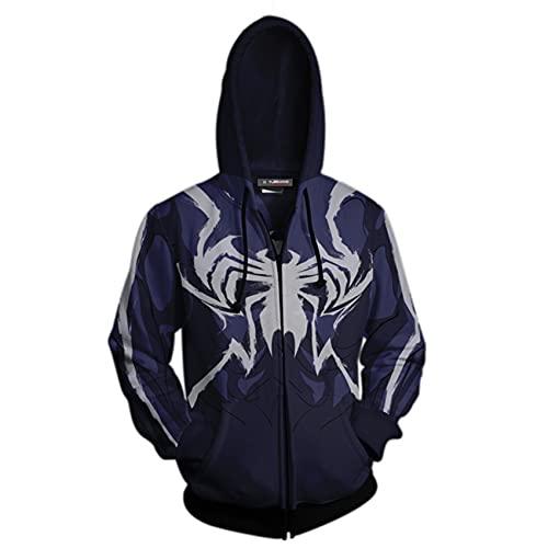 GJZhuan Niños Venom Spiderman Sudaderas Otoño Camisa Entrenamiento De Los Hombres Chandal Halloween Suéter De Punto Moda Atlético Disfraz Vengadores Partido Ropa,Blue-Kids/110