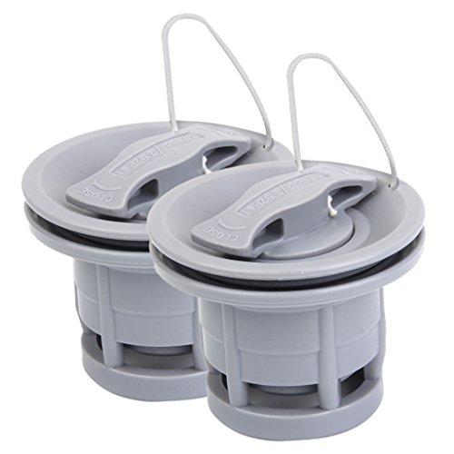 Sharplace Schlauchbootventil Bootsventil Schraubventil (2 Stück Packung)