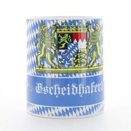 Sannys Bayerisches Kaffeehaferl mit Aufdruck - Gscheidhaferl
