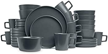 Stone Lain 32-Pieces Coupe Dinnerware Set, Service For 8