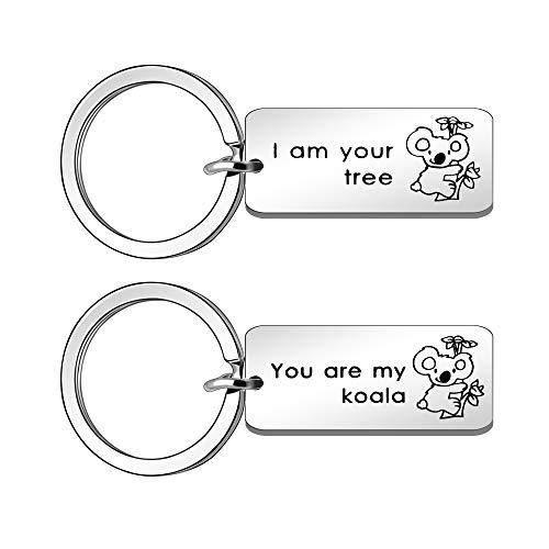 Maxforever - Portachiavi con scritta You are My Koala & I Am Your Tree, regalo per marito, moglie, fidanzato