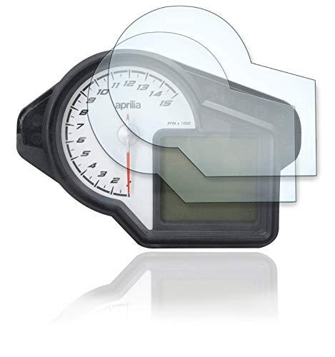 [2 Stück] Displayschutzfolie Tacho Schutzfolie geeignet für Aprilia Tuono 2011+ Panzerglas