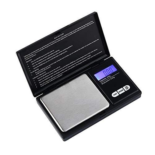 Balanza digital para joyería, mini bolsillo Balanza electrónica para joyería Balanza de laboratorio Balanza de oro Moneda de plata de diamante Herramienta de medición de peso de piedra de diamante par