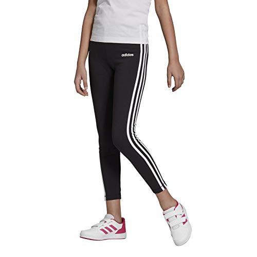 adidas Mädchen Tights Essentials 3-Streifen, Black/White, 128, DV0367