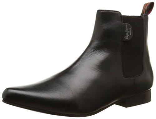 Pepe Jeans London Redford Basic Damen Stiefeletten, Schwarz - schwarz 999black - Größe: 37 EU