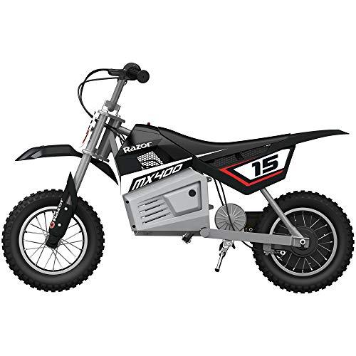 Razor MX400 Dirt Rocket Ride On 24V Electric Toy Motocross Motorcycle Dirt Bike, Speeds up to 14 MPH, Black
