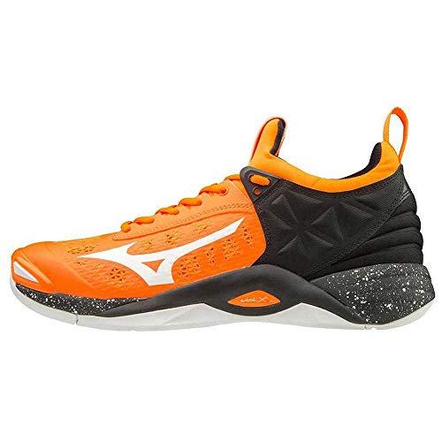 Mizuno Wave Momentum, Scarpa volley, Uomo, Multicolore (OrangeClownFish/White/Black), 45 EU