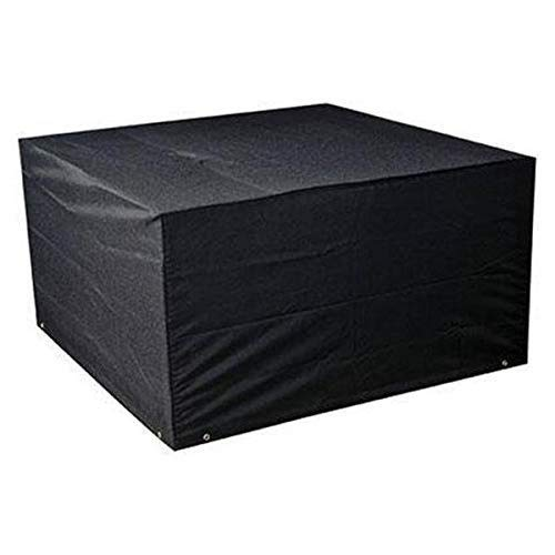 Little East Tafel En Stoel Meubelset, Zwarte Rotan Outdoor Sterke Regen Cover Kubus Sofa Cover