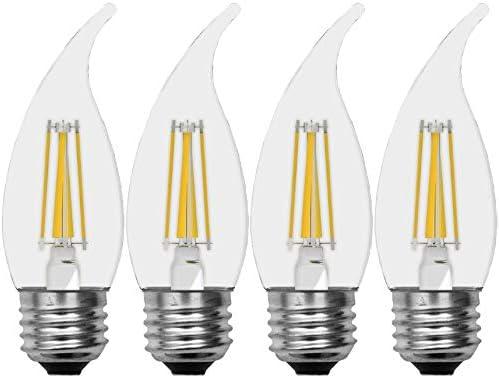 GE Dimmable LED Light Bulbs Bent Tip Decorative Light Bulb 2 5 Watt 25 Watt Replacement 200 product image