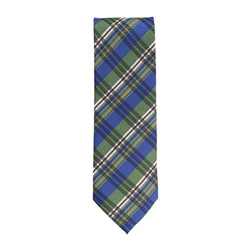 Silk Ties stropdas klassieke zijde groen blauw Schotse ruit 8,5 cm